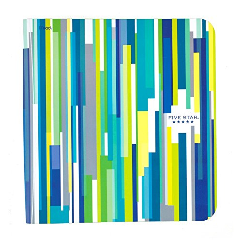 Five Star Binder, 1.5-Inch Capacity, 11.75 x 11.25 x 1.75 Inches, Blue Stripes (73223)
