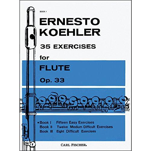 ケーラー : 35の練習曲 作品33 第一巻 15の易しい練習曲 (フルート教則本) カール・フィッシャー出版