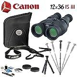 Canon 12x36 is III Image Stabilized Binoculars Advanced Bundle