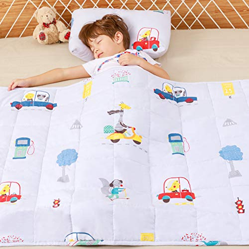 Anjee Weighted Blanket for Kids, 100% Cotton Material Heavy Blanket, Great for Calming and Sleep, 2.3kg 90x120cm, Animal Paradise