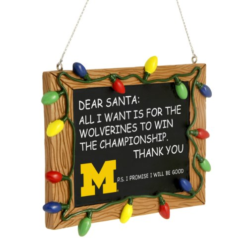 FOCO Michigan Wolverines NCAA Resin Chalkboard Sign Ornament