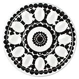 French Bull Bandeja de huevos 12'–Vajilla de melamina–Plato, Plato, servir, rellenos, Pascua–Ziggy
