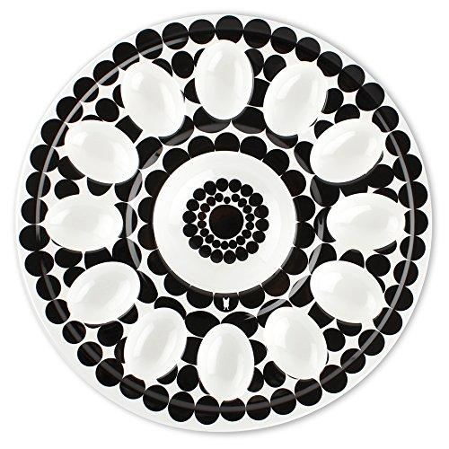 """French Bull 12"""" Egg Tray - Melamine Dinnerware - Platter, Dish, Serving, Deviled, Easter - Foli"""