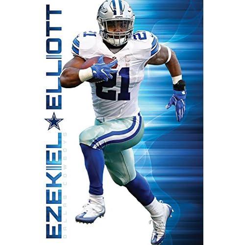 62345106e6b Trends International Wall Poster Dallas Cowboys Ezekiel Elliott 22.375