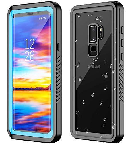 ANTSHARE Samsung Galaxy S9 Plus Waterproof Case,S9 Plus Case Built in Screen Protector 360° Full Body Protective Shockproof Dirtproof Sandproof IP68 Underwater Waterproof Case for S9 Plus(6.1')(Blue)