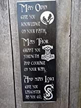 """Viking Blessing Sign. Hand Painted Wood Sign 7.5x20"""""""