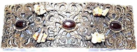 artigianale Hebilla para cinturón de 4 cm, tortuga de 5 x 15 cm, color bronce, hebillas de metal o piedras o brillantes o esmaltes o cristales muranos y 1 llavero BSS cc2