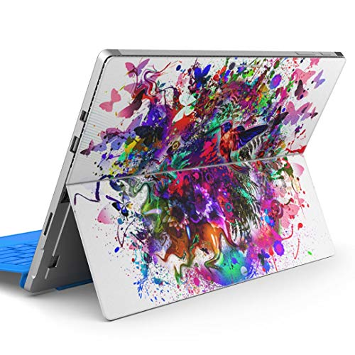 igsticker Decal Cover for Microsoft Surface Pro 7(2019)/ Pro 6 /Pro 2017/ Pro 4/Ultra Thin Protective Body Sticker Skins 012273 Paint Colorful Bird