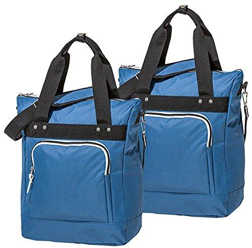 4Uniq fietstas bagagedrager tas set van 2 verschillende versies (blauw/zwart)