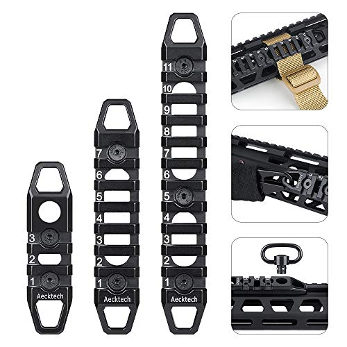 Aecktech Compatible Mloks/Keymods Picatinny Rail,3-Slot 7-Slot 11-Slot Aluminum Picatinny Rail Section Accessories for Mloks/Keymods System