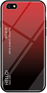 IVY Glare Series Oppo F3 Phone Cover Accessories [Glass Shell][Gradient Case] Bumper Shockproof for Oppo F3/A77 - Red-Black