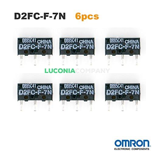 6er Pack Omron d2fc-f-7N Authentic Micro Schalter Mikroschalter Switches für Razer Logitech Apple MS Maus