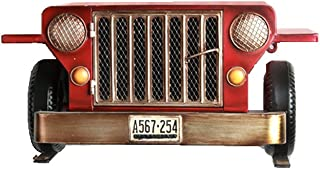 LXYFMS Retro Car Head Frame  Red Iron Wall Racks  Punch-free Wall Decoration Rack  Living Room Bedroom Display Rack  L48cmxH21cmxD25cm  Load-bearing 10kg Shelf