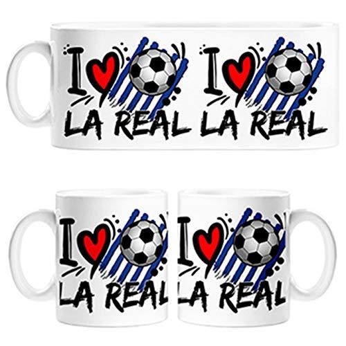 Diver Tazas Taza Frase I Love La Real para futboleros - Cerámica
