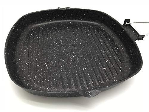 Wok Set,RVS Handvat Wok en Wok,Maifan Steen Anti-aanbakplaat Huishoudelijke Wok Pan Steak Koekenpan-Zwart en Wit_24cm * 24cm,Koekenpan Zonder Handvat, Koolstofstaal Wok