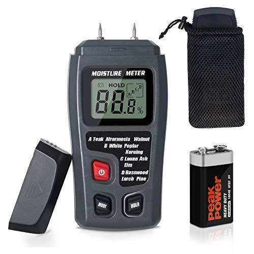 Moisture Meter TyhoTech Wood Moisture Detector LCD Damp Moisture Tester