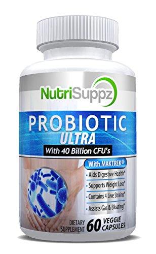 Probiotics 40 Billion CFU - Approved Probiotics for Women, Probiotics for Men and Adults, Natural, Shelf Stable Probiotic Supplement For Digestive Health, Highest Rated Acidophilus Probiotic