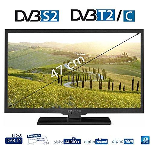 Alphatronics SL-19 DSB+ 48 cm (19 Zoll) TFT-LED-Flachfernseh-DVD-Kombination