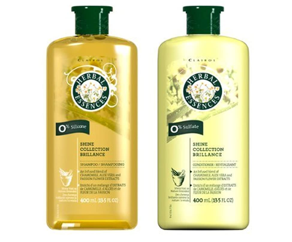 Herbal Essences Shine Collection Brillance Shampoo & Conditioner COMBO 13.5oz **Package May Vary**