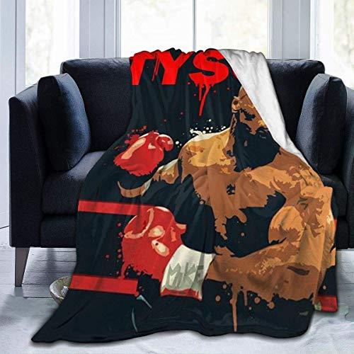 Leisure-Time M-Ike T-yson Lanza Manta sofá Suave Franela cálida para Viajar Camping...