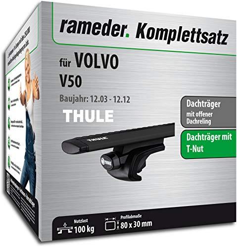 Rameder Komplettsatz, Dachträger WingBar EVO für Volvo V50 (118176-05090-69)