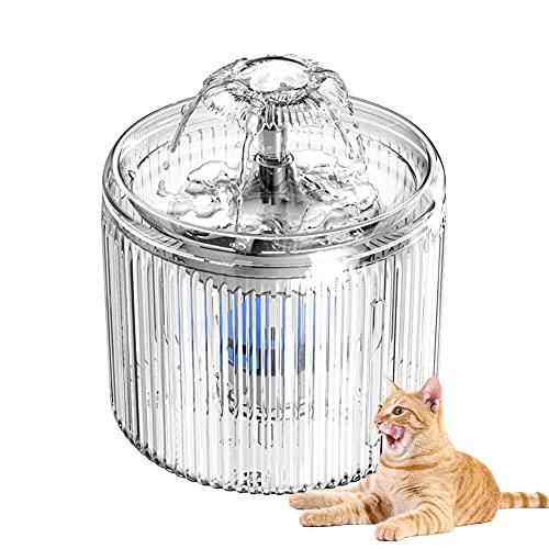 Fuente para Gatos Acero Inoxidable, Bebederos Gatos Automaticos Silenciosa 2.6 L, Modos Ajustable con Filtros,Agua para Gato y Pequeño Perro Filtros/C