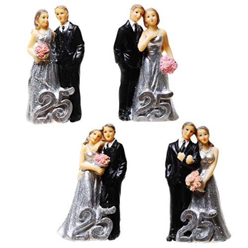 Silber-Hochzeitspaar mit