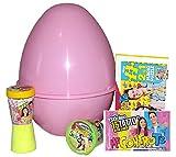 Uovo di Pasqua ME CONTRO TE Gigante in Plastica con Giochi Sorprese Me Contro Te Uovo contenitore Guscio Rosa