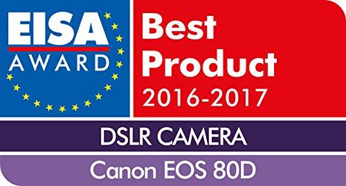 Canon EOS 80D DSLR Digitalkamera Gehäuse Body (24,2 Megapixel, 7,7 cm (3 Zoll) Display, APS-C Dual Pixel CMOS AF Sensor, 45 AF-Kreuzsensoren, DIGIC 6 Bildprozessor, NFC und WLAN, Full-HD), schwarz