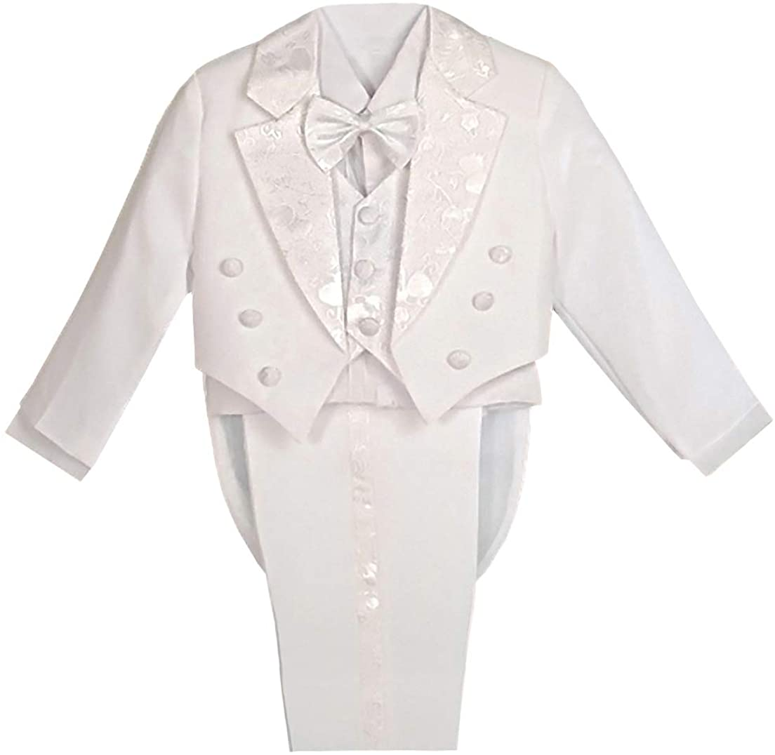 Dressy Daisy Boys' Classic Fit Long-awaited Tuxedo Suit Pcs with Tail Set F 5 In stock