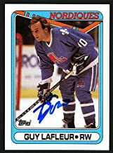 Guy Lafleur Autographed Memorabilia 1990-91 Topps Card #142 Quebec Nordiques 150168 - Certified Authentic