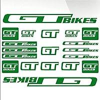 ビニールダイカットグラフィックカーボディデカールステッカーグラフィック設定をスタイリングGT自転車バイクフレームMTB BMXレースの道路の車のステッカー車用 (GREEN)