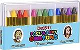 Kangaroo Face Paint Crayons for Kids Face & Body Painting Makeup Crayons, Safe for Sensitive Skin (12 Count)