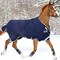 Rambo Original Medium Weight Turnout Blanket with Leg Arches- 81 Navy by Horseware Ireland