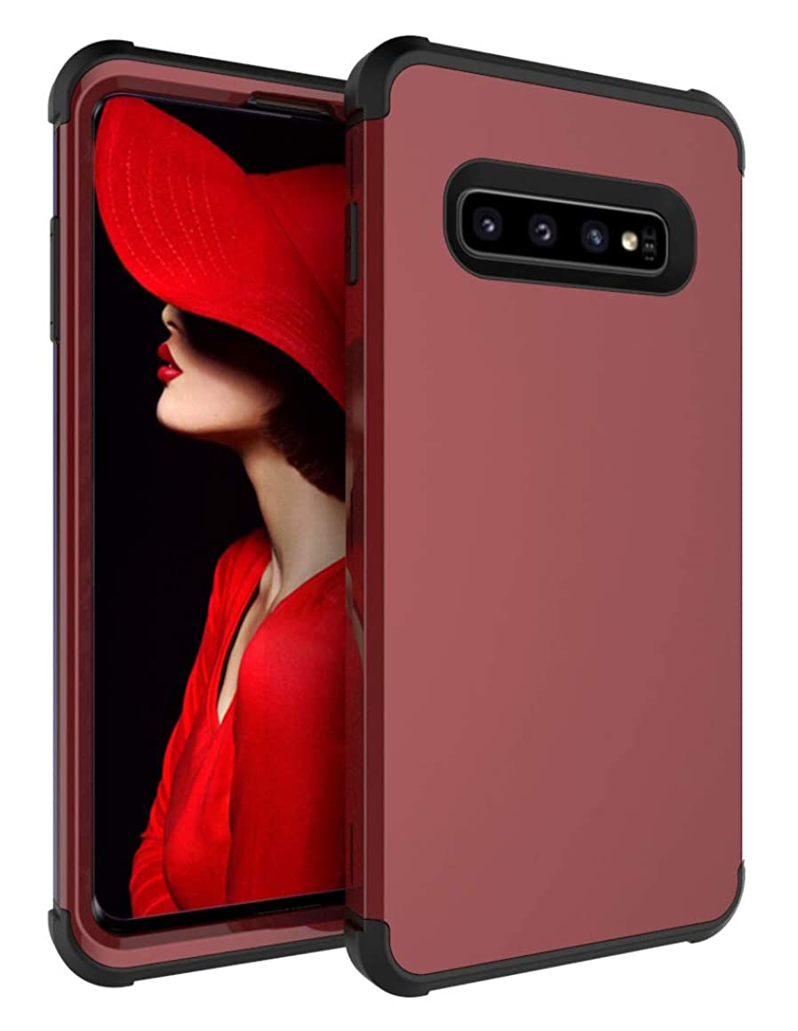 Galaxy S10 Plus Case, Yoomer 3 in 1 Shockproof & Scratch-Resistant Hybrid Impact Armor Defender Silicone Rubber Skin Hard back Cover Full Body Coverage Protection Case for Samsung Galaxy S10 Plus 6.4