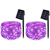 Solar String Lights, BOLWEO 2 Pack Solar Fairy Lights Outdoor Waterproof,16.4Ft...