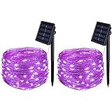 Solar String Lights, Solar Fairy Lights Outdoor Waterproof,16.4Ft 50LEDS IP65...