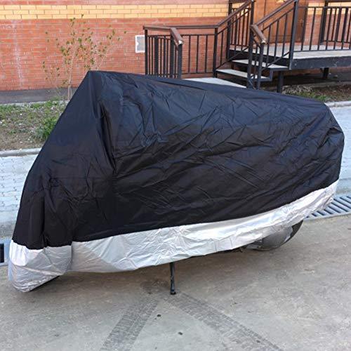 Moto Housse de Protection pour Scooter Résistante à l'eau Exterieur VTT Couverture Anti Poussière Protection UV de Pluie avec Câble Antivol et Sac de Rangement ELR Grande Taille