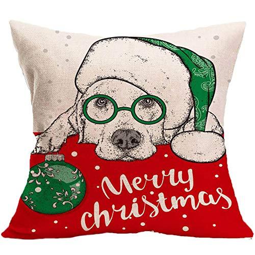 Sonojie Christmas Waist Cushion, Home Decoration Auspicious Printing Pillowcase, Sofa Chair Living Room Bedroom Office Cushion Cover Christmas Party Supplies Gifts