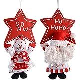 WeRChristmas–Figura Decorativa para Colgar de Papá Noel y muñeco de Nieve con...