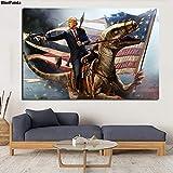 Poster Donald Trump Pistole Flagge für Präsident 2020