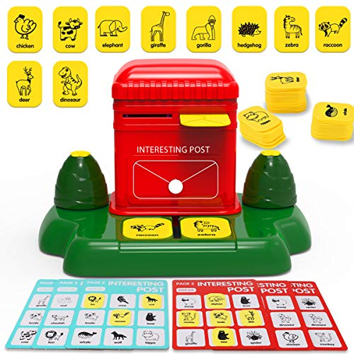 Nueplay Postbox Matching Word Card Board Game Educational Learning Kids Toys Age 3 4 5 6+ Years Old Boys Girls Adult Gifts with Animals Recognition & Increases Memory Challenge