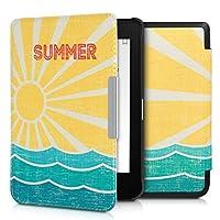 kwmobile 対応: Tolino Shine 3 ケース - 電子書籍カバー PUレザー - オートスリープ Reader 保護 レトロサマーデザイン