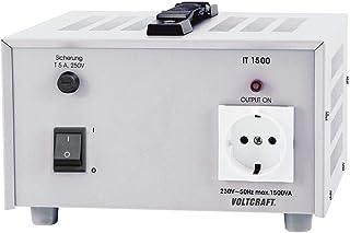 VOLTCRAFT IT-1500 Isolertransformator, fast spänning 1500 VA 230 V/AC (max.)