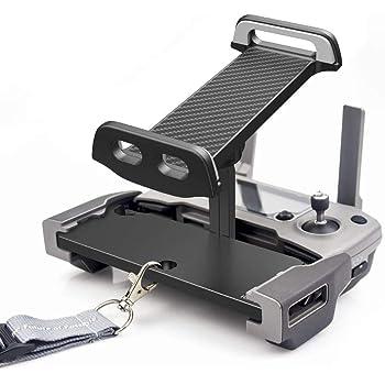UZOPI Mavic Mini Air Pro Platinum Spark Accessories Tablet Holder – Aluminum Adjustable Remote Controller Bracket Mount Extender with Neck Lanyard Strap for 4-12 Inch Phone Tablets