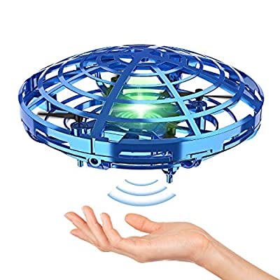 Hand Operated Drones for Kids or Adult - Interactive Infrared Induction Indoor Helicopter Ball with 360° Rotating and Shinning LED Lights,Hand-Controlled Flying Ball Toys for 5 6 7 8 9 10 11 12 Years by STREET WALK
