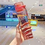 Trinkflasche Thermoskanne Quadratische Wasserflasche Tragbare Sport-Trinkflasche Koreanische Art Auslaufsichere Reise-Plastikflaschen Tragbare Teetasse Mit...