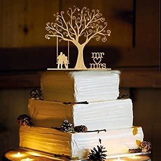 Frog Studio Home Rustic Wedding Cake Topper - Swing -WA1054