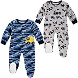 absorba Baby Boys 2-Pack Blanket Sleeper (Construction, 12 Month)