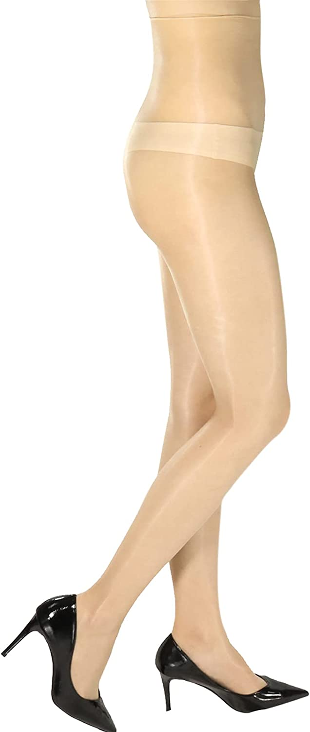 Womens 0D Silk Footed Tights Oily Shimmer Pantyhose Ultra Thin Sheer Hosiery Stockings